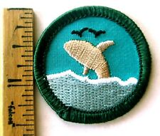 Girl Scout Junior OCEANOGRAPHY BADGE Patriots Trail Council Own Whale Orca Patch