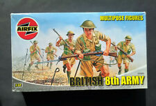 1/32 Airfix WW2 British 8th ARMY Multipose with extras figure model kit