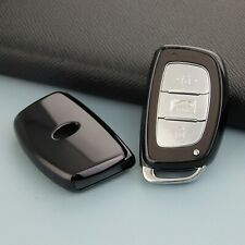 For Hyundai Tucson Sonata Elantra Smart Car Key Case Fob Cover Accessories Black