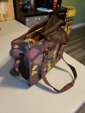 Dog/Cat Carrier Pet Carry Bag Brown Small (never used)