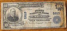1902 10 DOLLAR  LUMBERTON MISSISSIPPI NATIONAL BANKNOTE BILL CHARTER 5613