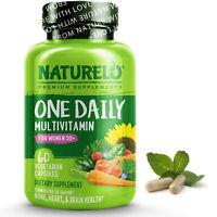 NATURELO One Daily Multivitamin for Women 50+ IRON FREE - 60 Capsules