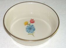 "Lenox Rare Special 5.25 "" Round Candy Bowl , 1.25 "" Deep, W/ Pastel Flowers"