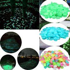 100x Glow In The Dark Pebbles Stone Rock Walkway Decor Fish Tank Aquarium Garden