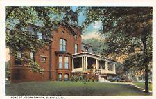 Danville Illinois~Joseph Gurney Cannon Home~Republican Speaker of House~1920s PC