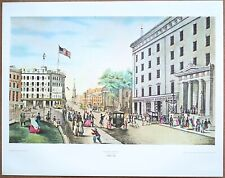 Currier and Ives Broadway New York Vintage Original 1960 1st Print Ltd Ed Litho