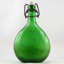 """Ancienne Bouteille VERRE MOULÉ """"Vert Emeraude"""" Armagnac? antique french bottle"""