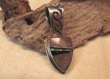 Vintage Navajo .925 Sterling Arrow Shaped Inlay Pendant Ed Tsosie Very Good