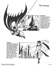BATMAN THE ANIMATED SERIES ~ PROMOTIONAL INFO FOR WARNER BROS. STORE EMPLOYEES