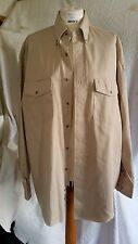 Wrangler Cotton Western Shirt Beige Chest 50 in Collar 16.5 in