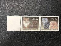 Scotts # 2374-75, Maine Coon & Burmese Cat, American Shorthair & Persian Cat