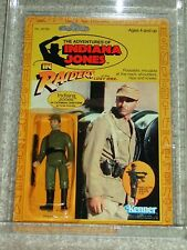 Vintage 1982 KENNER AFA 80 INDIANA JONES GERMAN UNIFORM ROTLA 9 BACK CARD MOC!!