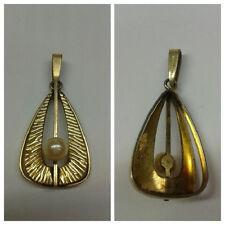 Elegante colgante de Collar bañado en oro AMERIKANER con perlas