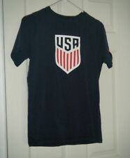 USA Nike National Soccer Team Logo Graphic Blue Logo T-Shirt Size Kids XL Used