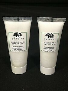 X2 Origins Checks And Balances Frothy Face Wash .5oz/15ml Each Travel Size NEW