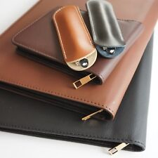 Leather Pen Case Pouch For Fountain Pens Or Pencils 1 3 12 48 Pens Velvet Uk