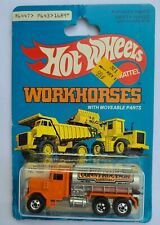 Hot Wheels MOC 1979 Workhorse Peterbilt Tank Truck Orange Hong Kong Vintage