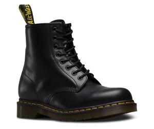 Men's Dr Martens 1460 8 Eyelet Black Smooth Leather Boots UK 8 - 13 Doc Martens
