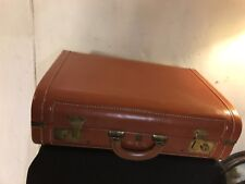 Leather Sewen Cowhide Brief Case.No Key.C12pix For Size And Condition MAKE OFFER