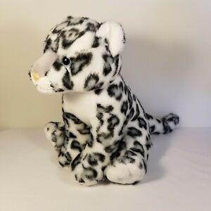 "Aurora Destination Nation Snow Leopard 12"" Plush Stuffed Animal Toy White Gray"