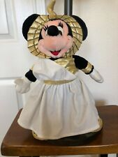 "Vintage Disney Store Minnie Mouse Cleopatra Plush Stuffed Animal Egyptian 14"""