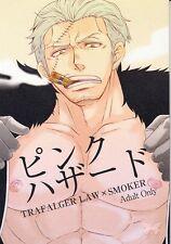 One Piece YAOI HENTAI Doujinshi Dojinshi Law x Smoker Law x Tashigi Pink Hazard