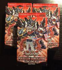 Yu-Gi-Oh Pendulum Domination Structure Deck x3