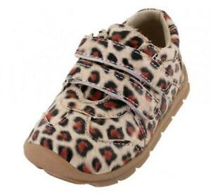 Baby Toddler Leopard Print Sneakers Shoes Rubber Sole Sizes 3-8 New