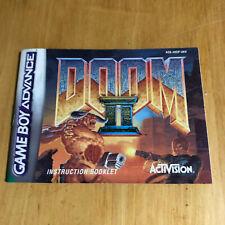 Nintendo Gameboy Advance Manual - Doom II 2