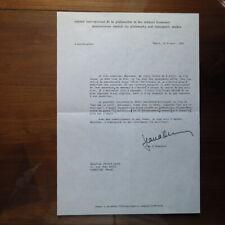 Jean d'Ormesson - Lettre tapuscrite d'avril 1983