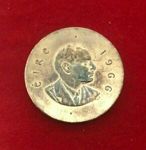 1966 Ireland 10 Shilling Easter Rising Anniversary Silver BU UNC Sharp Toned