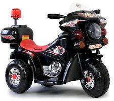 T03# Black Police Higway Kindermotorrad Kid Kinderfahrzeug Elektro Motorrad