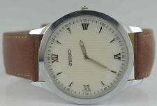 Vintage Seiko Quartz Modified Wrist Watch For Men's Wear Working Good W-4919