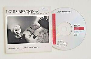 LOUIS BERTIGNAC - CD PROMO 4 TITRES LIVE FNAC INEDITS - inc. THE WHO (COVER)