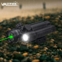 Rifle Flashlight Hungting Torch Lamp Green Dot Laser Sight With Gun Rail Mount