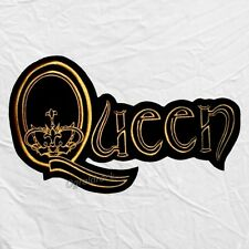 Queen Word Logo Embroidered Big Patch for Back Freddie Mercury Brian May Taylor