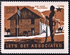 "Let's Get Associated #133 ""Fort Tejon California"" Mnh"