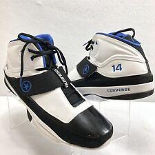 Converse Men's Sneakers N14 Basketball Shoes White Black Blue Size 18 Mint