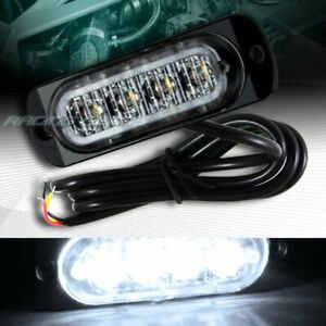 4 LED WHITE CAR EMERGENCY BEACON HAZARD WARNING FLASH STROBE LIGHT BAR UNIVERSAL