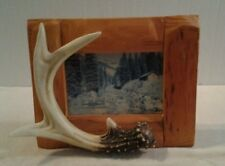 """Rivers Edge """"DEER ANTLER"""" 4 x 6 wall hanging or standing photo frame - NEW"""