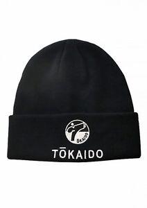 Tokaido- STRICKMÜTZE, TOKAIDO, GROßES LOGO, SCHWARZ. Budo. Judo. Karate.