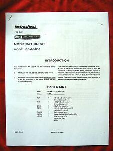 Heathkit SB-100, SB-101, SB-102, HW-100 mod instructions + parts. FREE SHIPPING