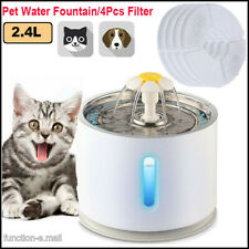 2.4L Automatic Electric Pet Water Fountain Cat/Dog Drinking Dispenser Filter Usa