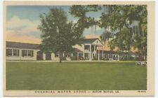 Colonial Motor Lodge Baton Rouge Louisiana Linen Postcard