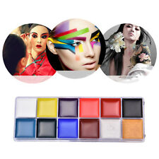 12 Color Face Body Paint Oil Painting Art Make Up Set Party Halloween Fancy MWUK