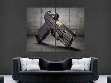 Glock 19 pistola arma Póster Gigante Pared Arte Foto Impresión Grande Enorme
