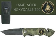 Couteau Survival en acier 440 LÉGION ÉTRANGÈRE + étui / Housse de protection