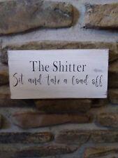 funny bathroom sign rustic home decor hand made farmhouse primitive humor