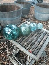 4 various sizes of Vintage Japanese Glass Fish Net Floats