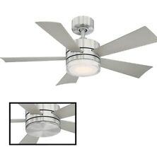"Modern Forms Wynd 52"" 5 Blade Indoor / Outdoor Smart LED Fan Graphite/gray"